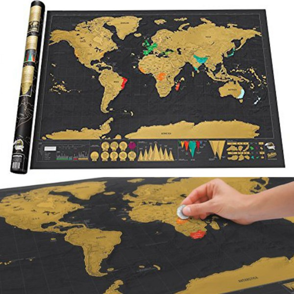 Two size personalized black scratch off world map deluxe poster two size personalized black scratch off world map deluxe poster travel hot in wall stickers from home garden on aliexpress alibaba group gumiabroncs Choice Image