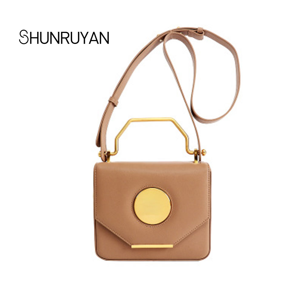 SHUNRUYAN 2018 Brand Design New Fashion Women Messenger Bags Genuine leather Casual Shoulder Crossbody Bags Handbags
