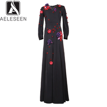 Dress European Appliques Women