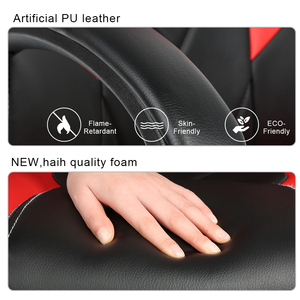 Image 3 - Silla de oficina ergonómica para el hogar giratoria ajustable de alta calidad con respaldo alto, silla de Gaming de imitación de cuero reclinable HWC