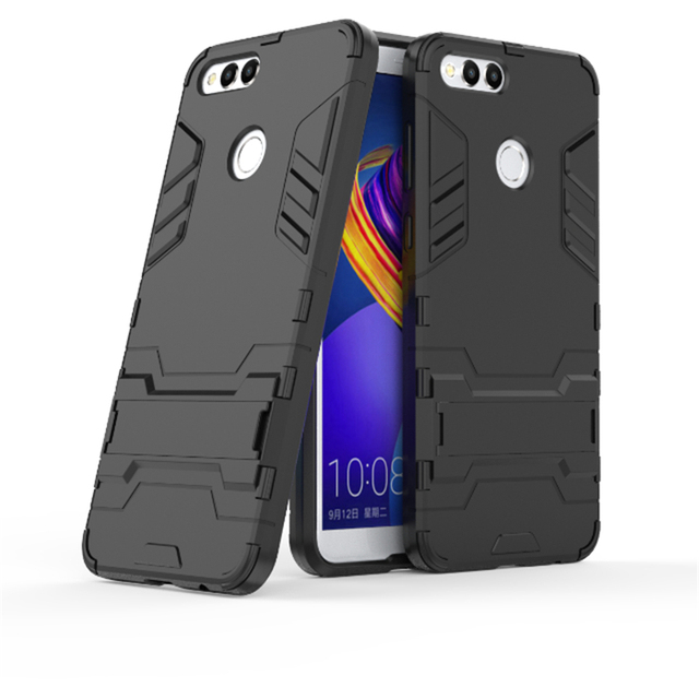 brand new 441a5 feded US $3.12 13% OFF|Case For Huawei Honor 7X Coque Plastic Cover Robot Armor  With Kickstand Rubber Silicon Cases Honor 7X Phone Accessories Fundas-in ...