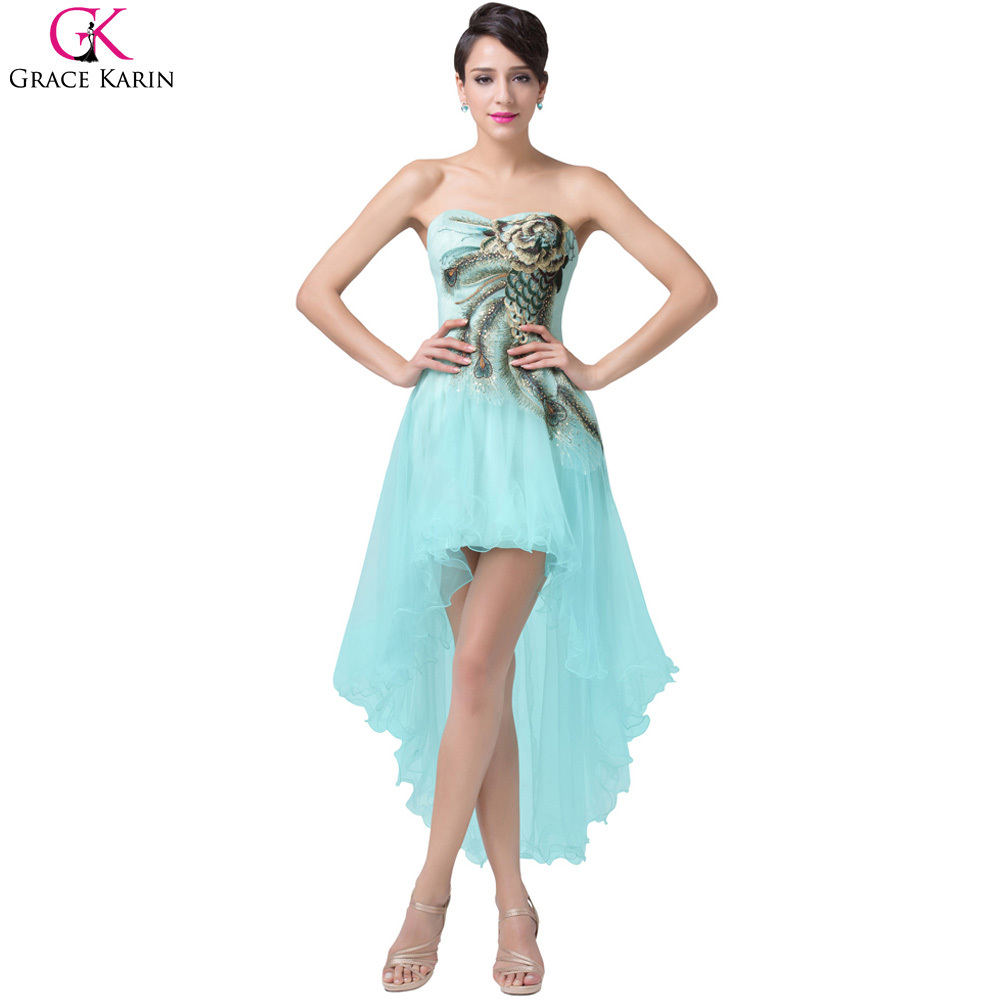 Grace Karin Peacock Prom Dresses 2017 Pale Turquoise Blue Short ...