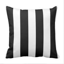 Modern Black White Stripes Pattern Throw Pillow case цена и фото