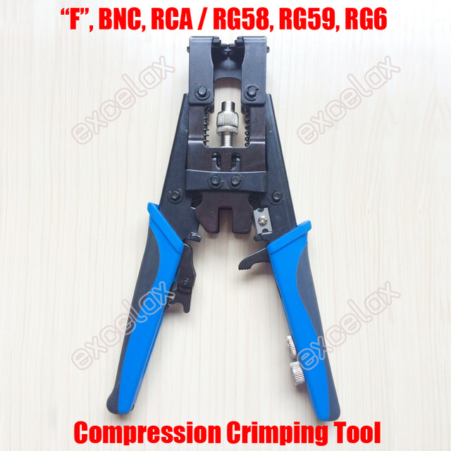 3 In 1 F BNC RCA Connector Squeeze Crimping Tool RG58 RG59 RG6 75 3 ...
