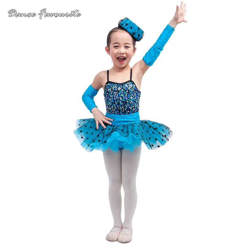 Dance Favourite Color sequin spandex ballet tutu girl stage performance ballet costume ballerina girl dance tutu (not with hat)
