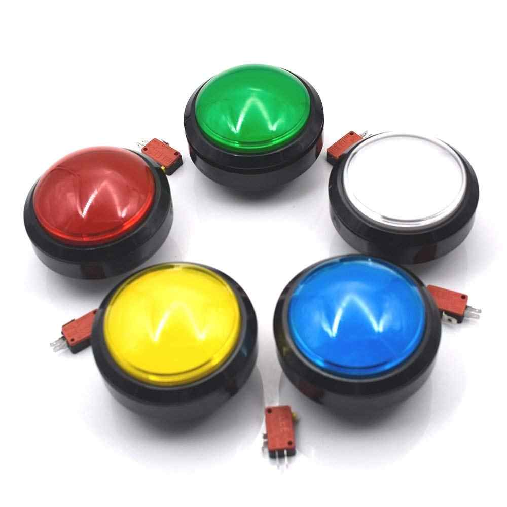 100mm Big Round Push Button LED Illuminated with Microswitch for DIY Arcade Game Machine Parts 5/12V Large Dome Light Switch