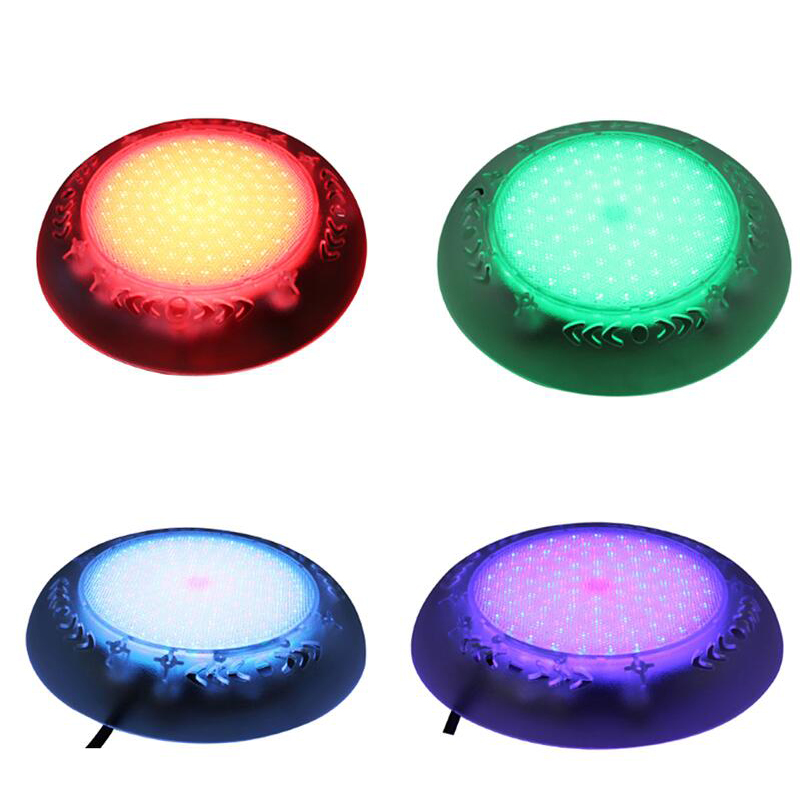New Underwater Light LED RGB Waterproof IP68 Swimming Pool Lamp AC 12V RGB Color Changing White Blue Surface Mount Fountain Lamp 30cm color changing remote control party pool magic waterproof rgb night lighting lamp globe