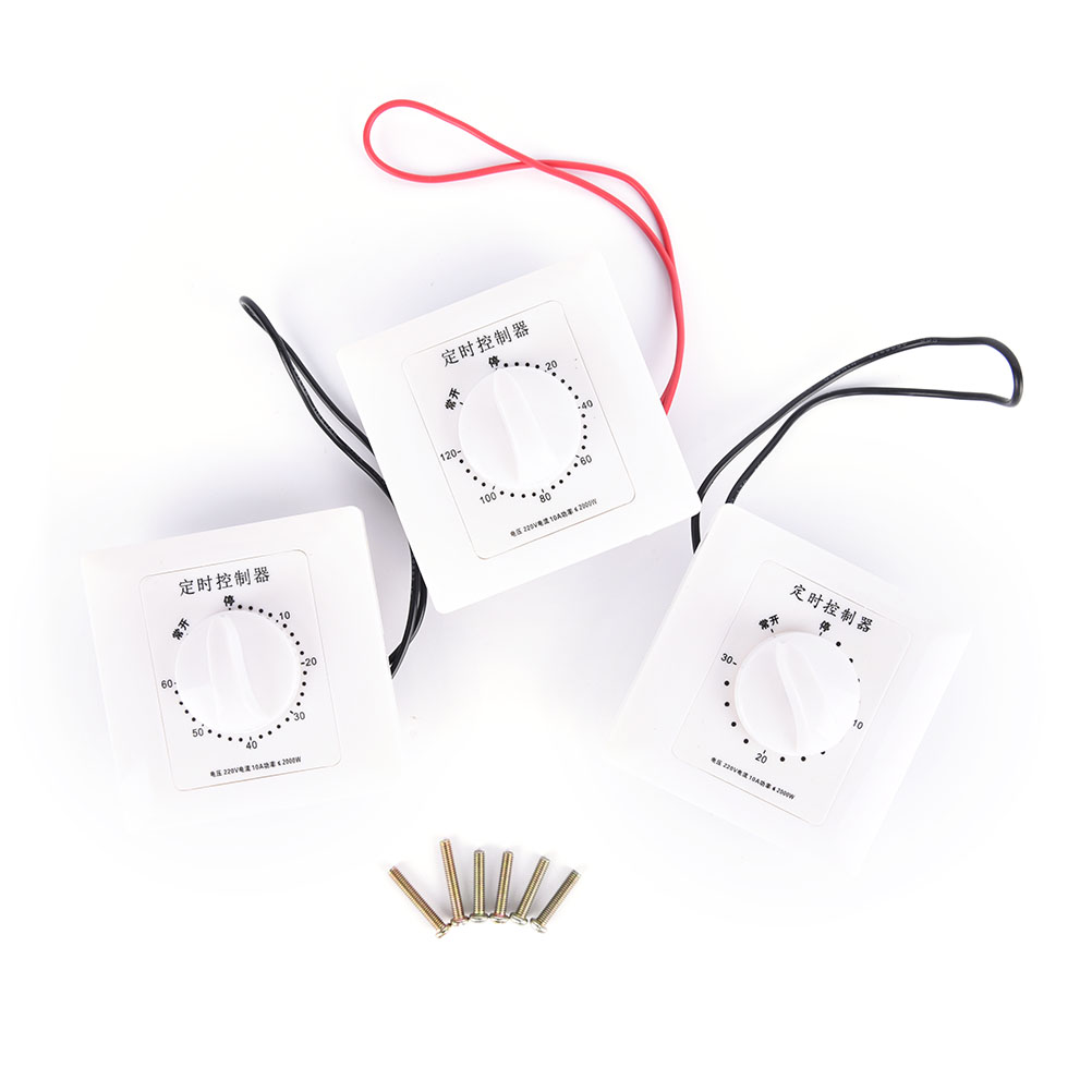 220V Timer Switch Control Pump Timer Mechanical Countdown Control Interruptor 30/60/120 Minutes 1Pc New Arrival AC Timer Switch egg shaped stainless steel mechanical twist timer 60 minutes