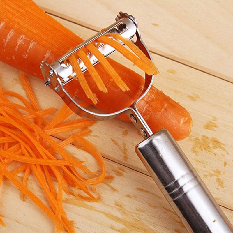 1 Pcs Stainless Steel Carrot Potato Fruit Peeler Durable Razor Sharp Blade Zesters Grade Shredder Slicer Julienne Peeler