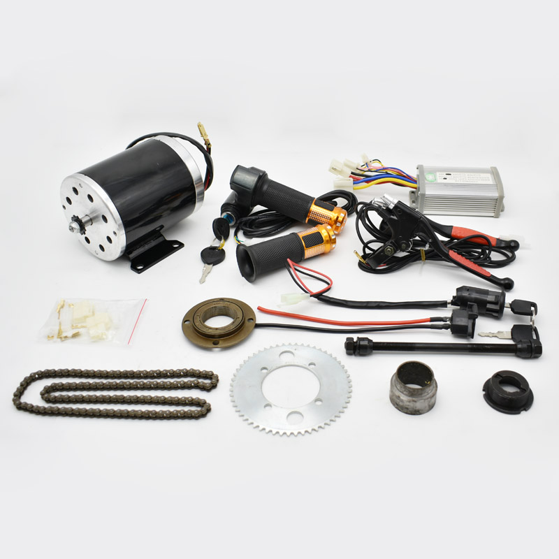 24V/36V/48V <font><b>500W</b></font> <font><b>Electric</b></font> <font><b>Scooter</b></font> <font><b>Motor</b></font> <font><b>Electric</b></font> Bike Belt Drive MY1020 High Speed Belt <font><b>MOTOR</b></font> <font><b>electric</b></font> <font><b>scooter</b></font> conversion kit image
