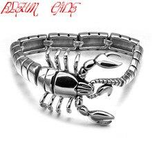 BLEUM CADE Unique Stainless Steel Animal Scorpions Heavy Men's Bracelets Punk Hand Chain Bracelets Best Gift For Boyfriend