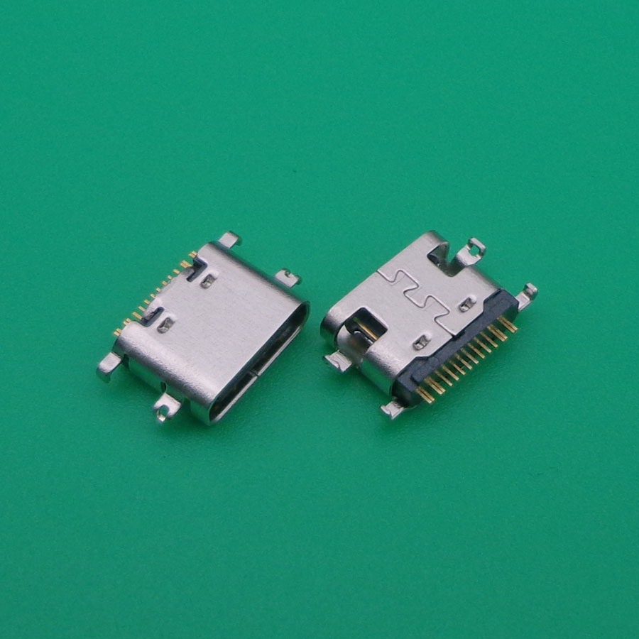 10PCS/LOT Micro USB JACK 3.1 Type-C 16pin SMD 90 Degree Female Connector For Mobile Phone Charging Port Charging Socket