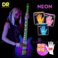 Dr cordas neon hi-def 4-strings baixo superstrings guitarra baixo, lite 40-100 ou médio 45-105