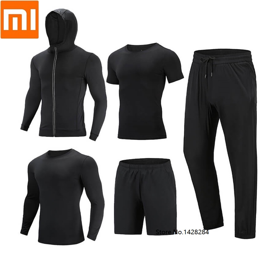 Xiaomi Cottonsmith Men Quick Drying Sports Fitness Coat Long Sleeve T-shirt Shorts Trousers Breathable Short Sleeve Sweatshirt
