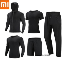 Youpin Cottonsmith Men Quick drying Sports Fitness coat Long sleeve T shirt shorts trousers breathable Short sleeve Sweatshirt