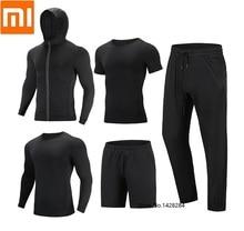 Youpin cottonsmith men secagem rápida esportes casaco de fitness manga longa camiseta shorts calças respirável manga curta moletom