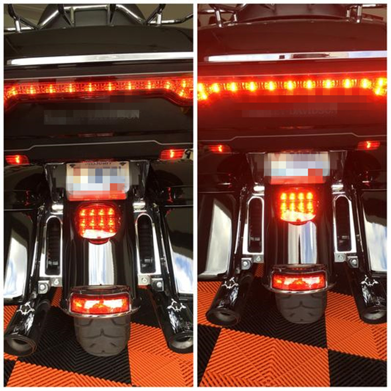 1pcs Awesome Layback LED Tail Light Harlley accessories for Harley 2015 Ultra Classic, 2015 Ultra Limited