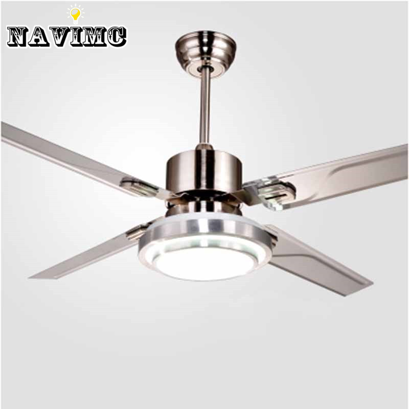 Remote Control Ceiling Fans With Lights Modern LED Fashion