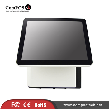 Point Of Sale Display 15 Inch Touch Dual screen POS Machine With Built-in Card Reader For Retail Shop