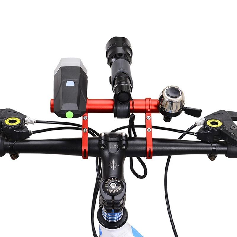 Bike Bicycle Cycling Handle Bar Lamp Bracket Holder Extender Mount Extension Dm