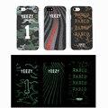 Novo luxo luminous rap yeezy telefone hard case para iphone 6 6 s 7 7 plus yeezy temporada sply pabl fosco protetor tampa