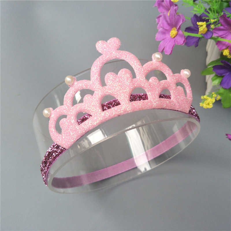 M MISM New Design Children Crown Headbands Newborn Baby Princess Tiara Headwear Cute Pearl Headwear Hair Accessories