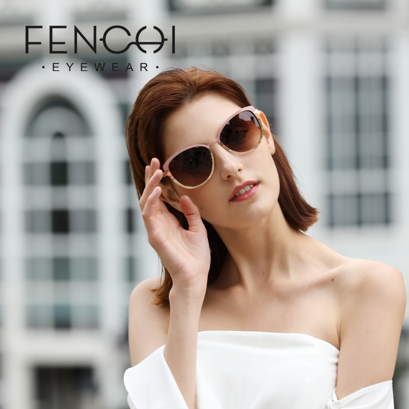 FENCHI Vintage <font><b>Sunglasses</b></font> <font><b>Women</b></font> <font><b>Cat</b></font> <font><b>Eye</b></font> <font><b>Designer</b></font> <font><b>Brand</b></font> Luxury <font><b>Sexy</b></font> Driving Glasses oculos de sol feminino Zonnebril Dames image