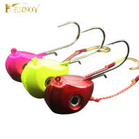 Hennoy 2018 New Jig Lures 40g 60g 80g 100g Lead Head Jigs with Single Hook Pesca Accessories Boat Fishing Enquipment