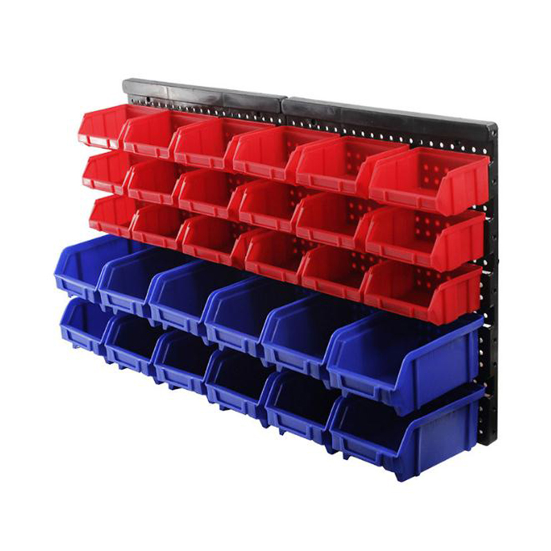 New Wall-mounted Box Tool Parts Garage Unit Shelving Organiser Antistatic Plastic Tool Parts Case ABS Thickened Bin Storage