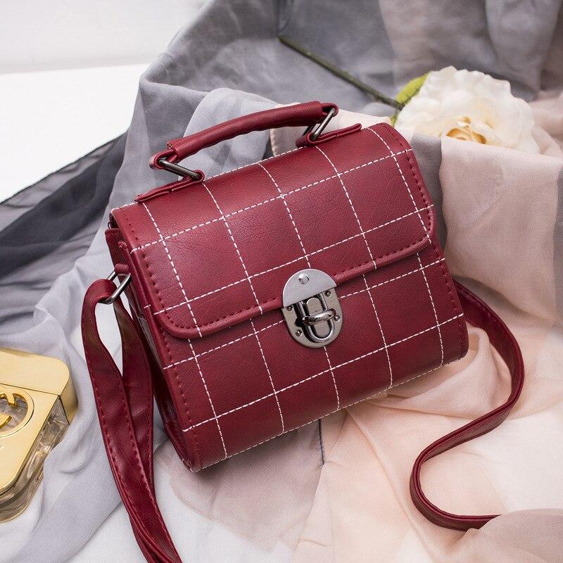 ФОТО Lady Crossbody Handbag Korean Fashion Fashionista all-match Ride Across Small College Wind Suture Rivet Bag