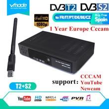 Digital Terrestrial Satellite TV Receiver FTA Combo DVB T2 DVB S2 Suppor HD IPTV YouTuBE tv
