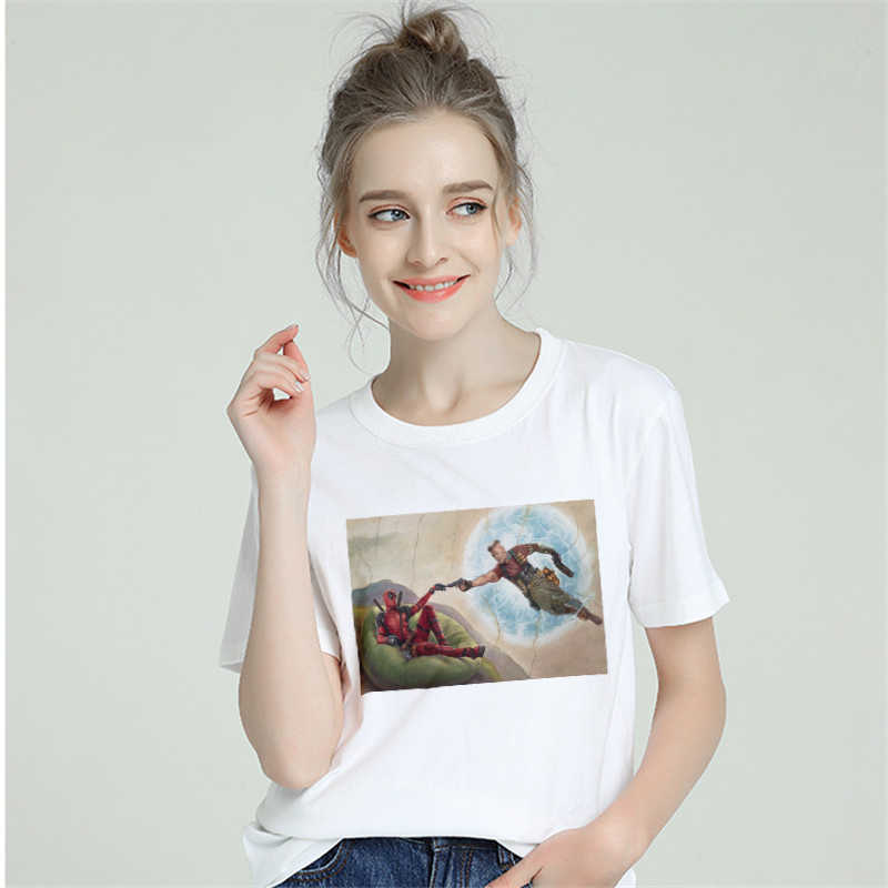 Marvel Hero Funny Tshirt Women Cotton 2019 Harajuku Aesthetics Plus Size T Shirt Tumblr Short Sleeve Top Tee Female Streetwear