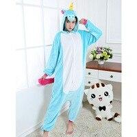 Unicorn Winter Couple Warm Sleepwear For Women Men Stitch Onesies Cosplay Unicorn New Fashion Adult Costume