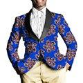 Chaqueta de los hombres de moda africano africano dashiki tailor made blazers remiendo de la impresión de encargo ropa de áfrica