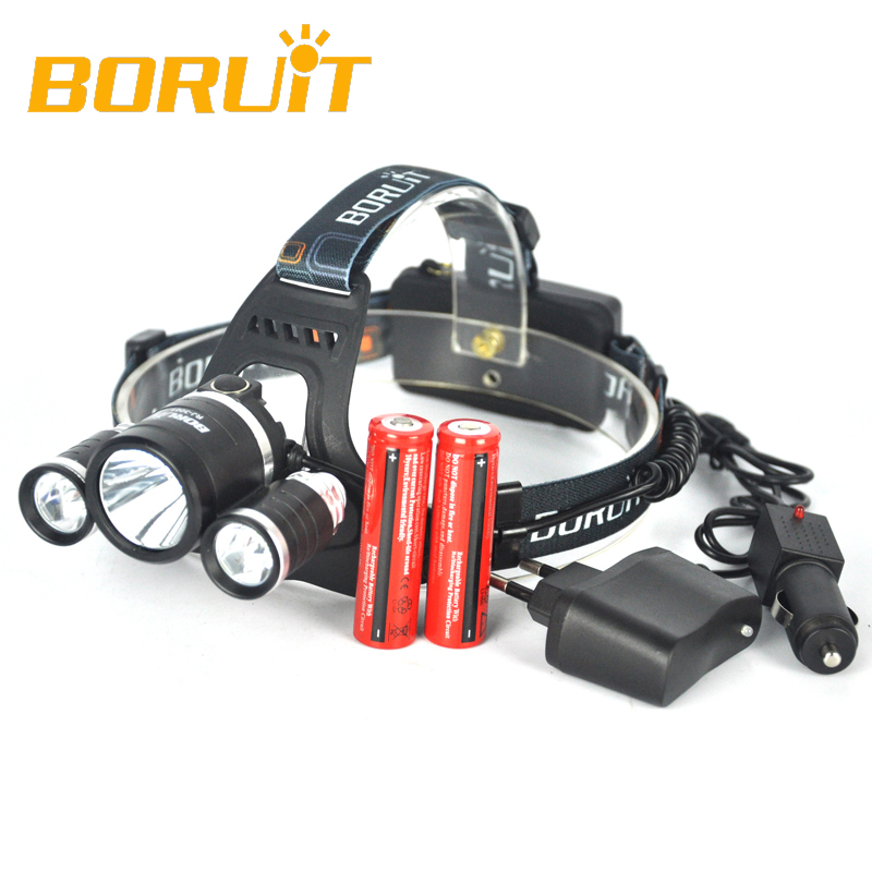 3T6 Fishing Light 8000LM 3 XM L T6 LED Headlight Lanterna de Cabeca Headlamp Flashlight Head