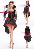 TRANG PHỤC SEXY Ma Cà Rồng Vixen ADULT COSPLAY Halloween Đỏ Tía Đen Ren Gown 8543