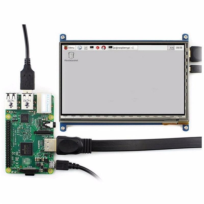 Nouvelle Arrivée 7 Pouce 1024x600 HDMI Capacitif IPS LCD Module 5 Point Tactile Support D'écran Framboise pi LCD affichage