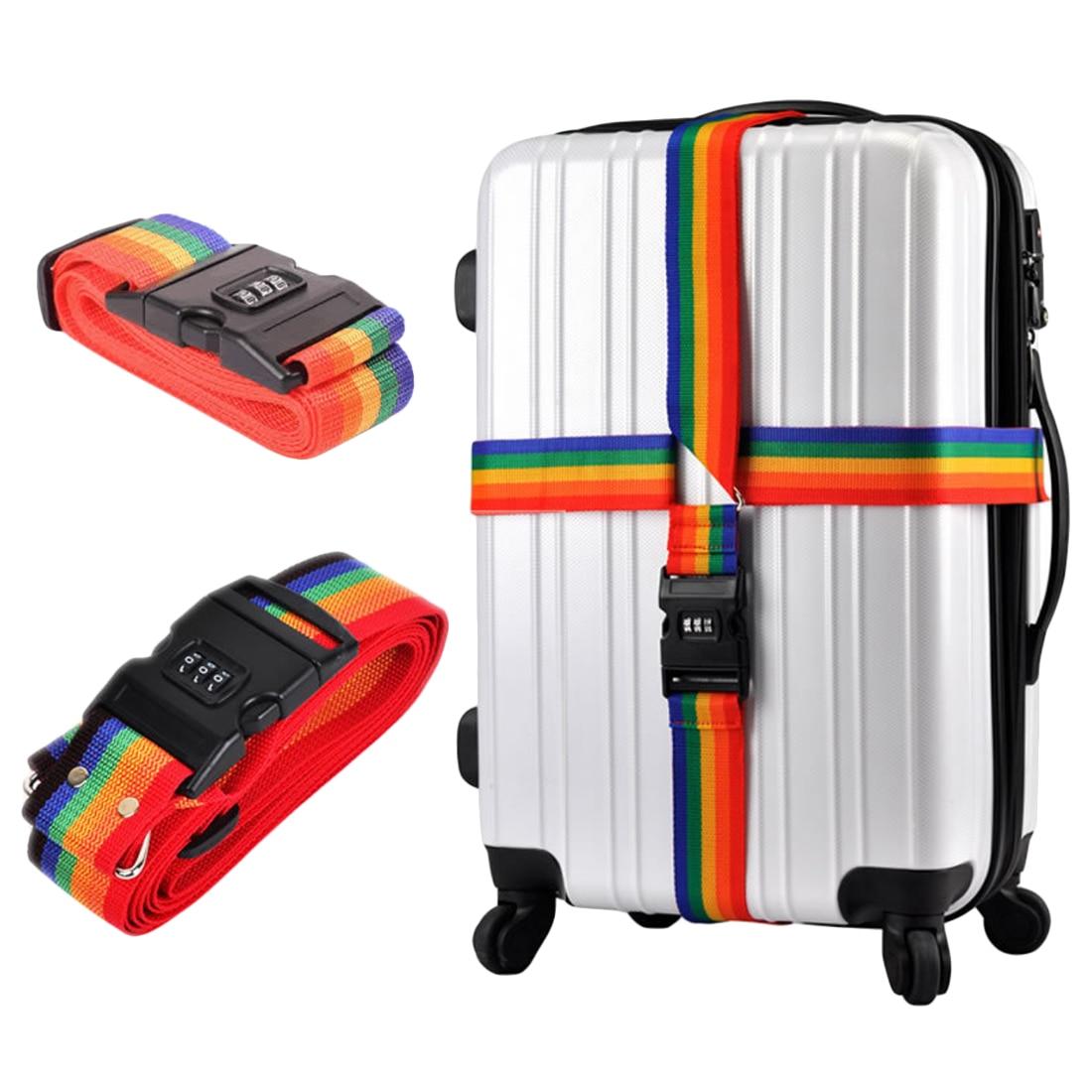 Регулируемый Чемодан ремень паролем чемодан ремень Quick Release Туристические товары багажная сумка пояс с меткой Умный набор инструментов