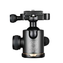 QZSD 02 אלומיניום 360 תואר פנורמי סיבוב מצלמה חצובה כדור ראש עם צלחת שחרור מהירה עבור DSLR מצלמות