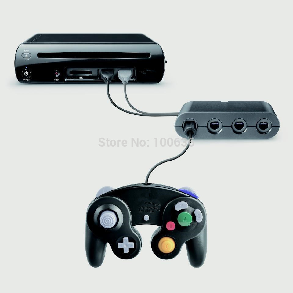 Dealonow 4 Ports for GameCube Controller Adapter for Wii U & PC USB new lepin 15002 2133pcs cafe corner model building kits blocks kid diy educational toy children day gift brinquedos 10182
