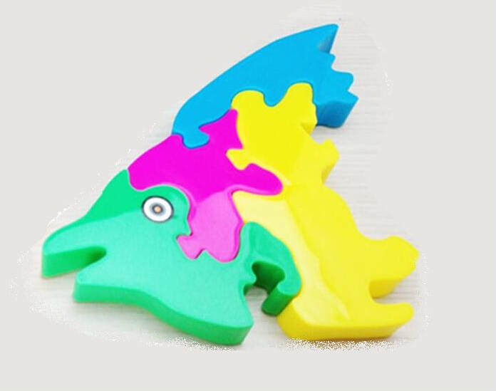 Lovely Plastic Fish Puzzle Kid Educational Toy Cartoon children s toys game Toy