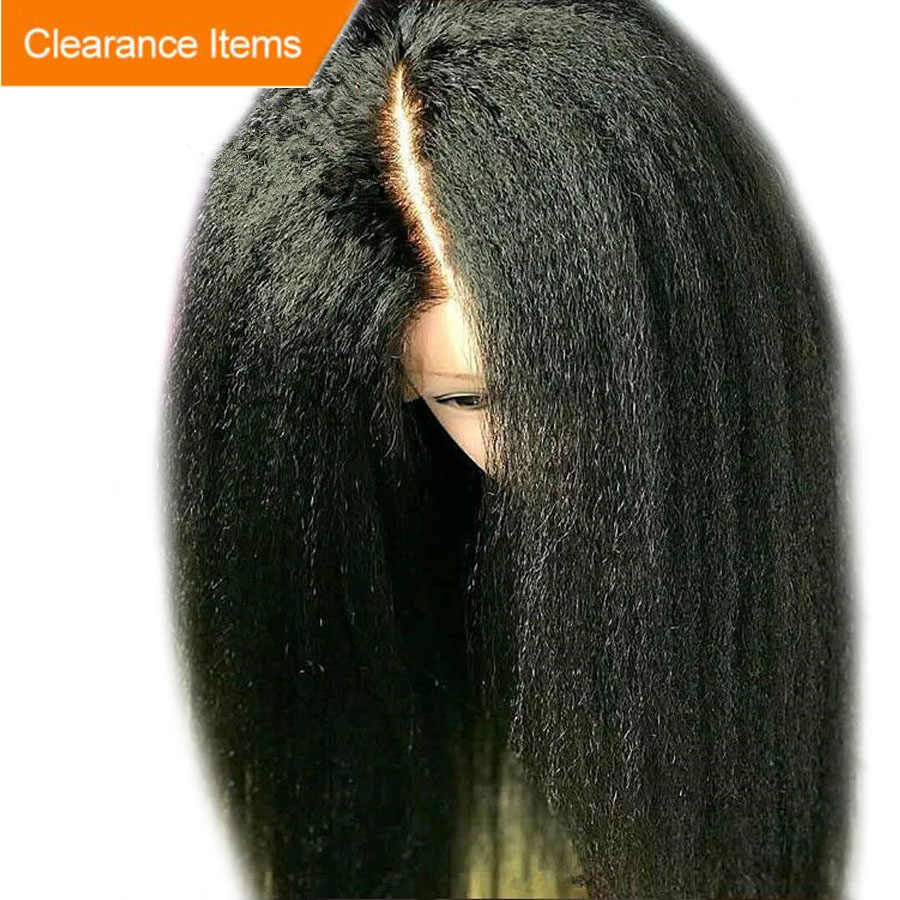 Alice Depp Part 13x6 Lace Front Wig With Baby Hair Glueless Kinky Straight Wig Remy Hair Lace Front Human Hair Wigs Pre Plucked