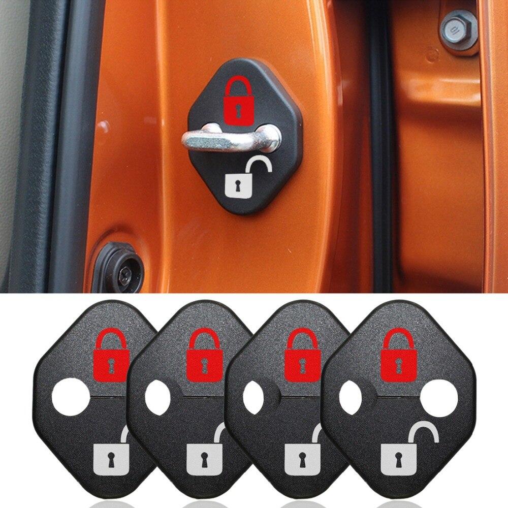 Diy Car Lock Sticker Car Door Lock Cover Fit For Toyota