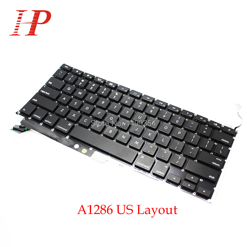 "Genuine US Keyboard With Backlit Backlight For MacBook Pro 15 inch"" A1286 2011 2012 c/w 2009 2010 inch"