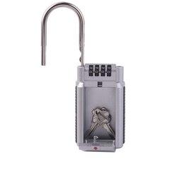 Outdoor Keys Storage Box Lock Safes Function Security Organizer Digit Combination Password Without Installation Secret Safe