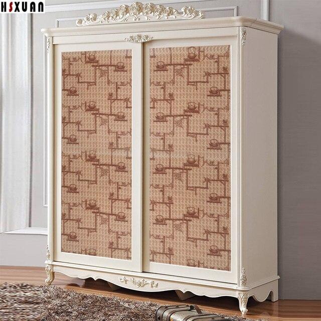 PVC Retro Creative Pattern Paper Decal Self Adhesive Cabinet Glass Door  Furniture Sticker Bedroom Decor Tiles