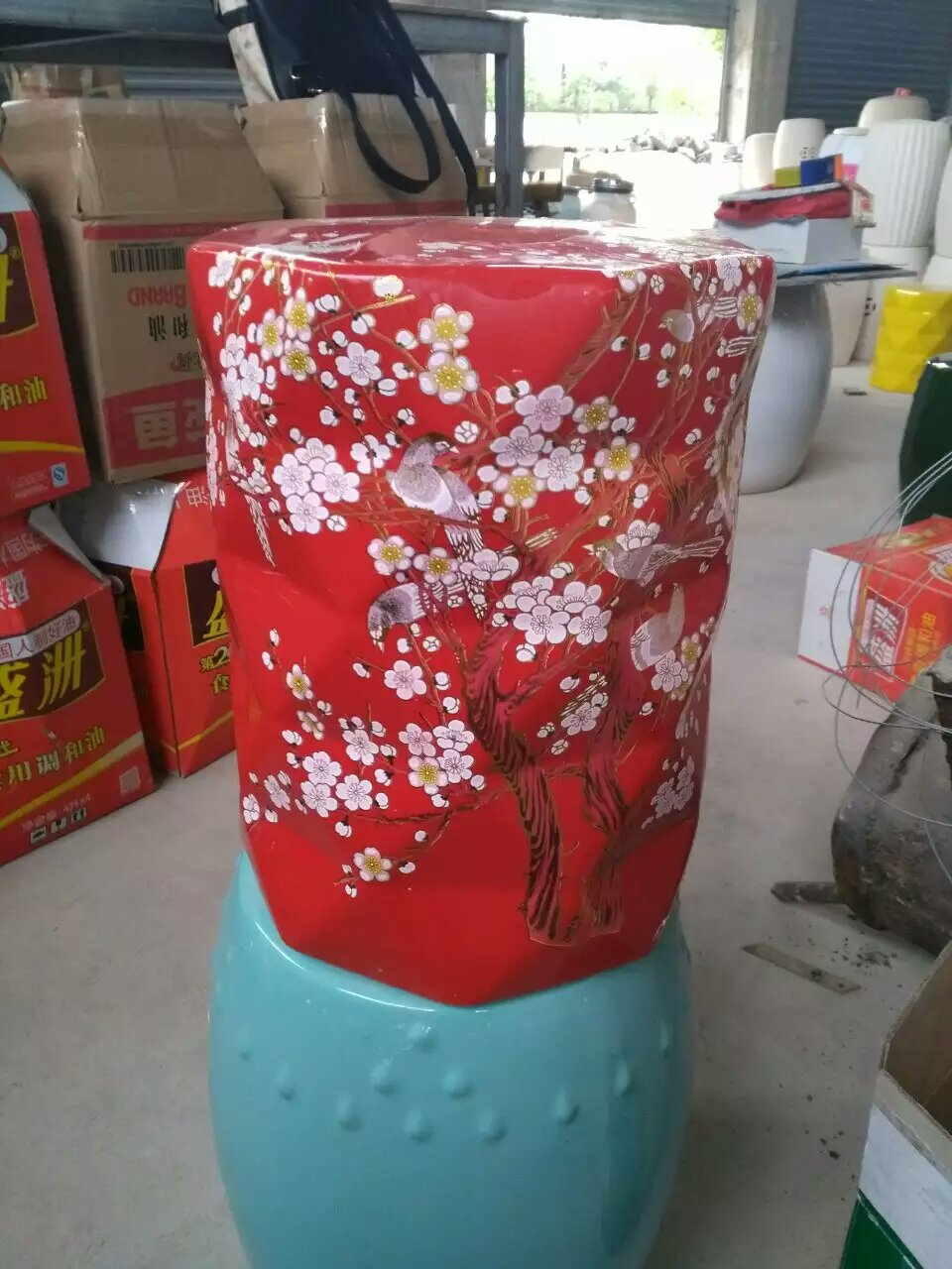 Outstanding Us 242 1 10 Off Red Color Jindezhen Dressing Ceramic Garden Stool Chinese Ceramic Drum Stool Bathroom Porcelain Stool Red In Stools Ottomans From Unemploymentrelief Wooden Chair Designs For Living Room Unemploymentrelieforg