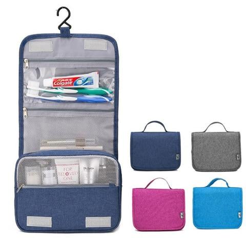 Bolsa de Maquiagem de Viagem Bolsa de Cosmética Produtos de Higiene Bolsa de Armazenamento de Cosméticos à Prova Gancho Organizador Case Mulheres Homens Grandes Necessaries Maquiagem Pessoal d' Água