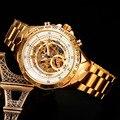 Sewor marca relogio automatico masculino cinta de aço inoxidável esqueleto relógios relógio 2016 moda relógios de pulso mecânicos swq18
