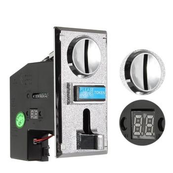 1 zestaw PC plastikowe elektroniczne zaawansowane wejście z przodu CPU wrzutnik do monet na różne monety na automat do gier na monety tanie i dobre opinie SKU447959 6 lat Arcade Coin acceptor